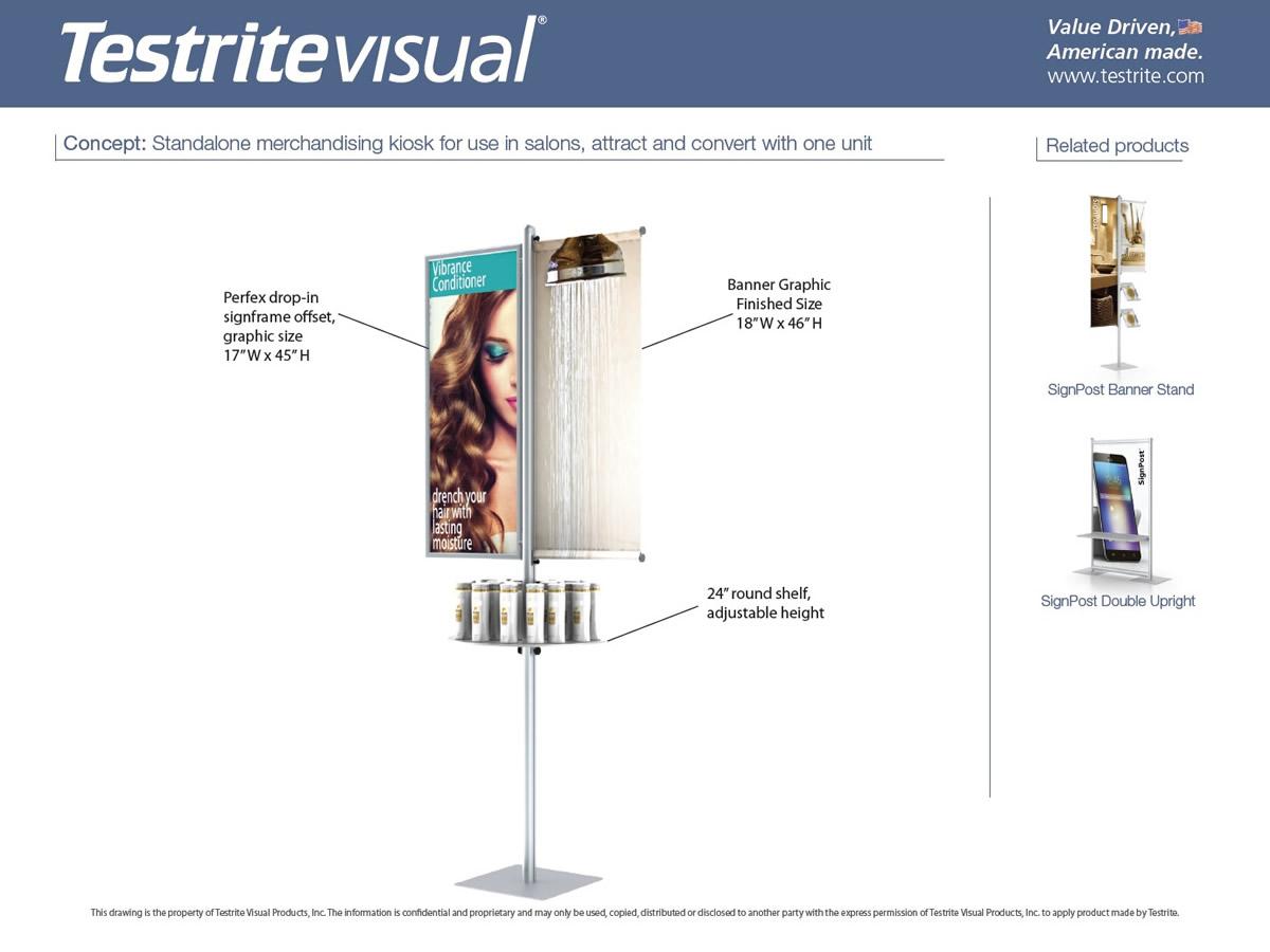 Standalong Merchandising Kiosk