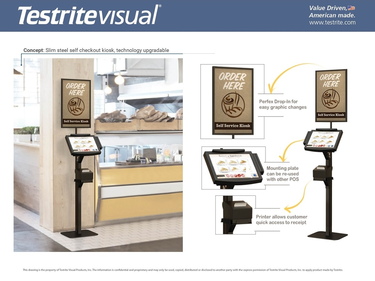 Custom Visual Merchandising Concepts Kiosk POS