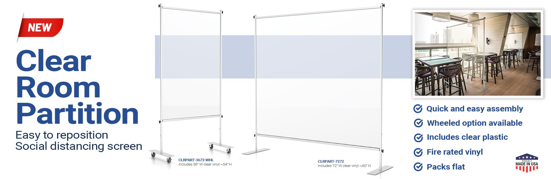 Clear Room Partitions