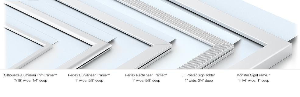 Drop In Frames Perfex Signpost Framettes Wall Floor Hanging Countertop