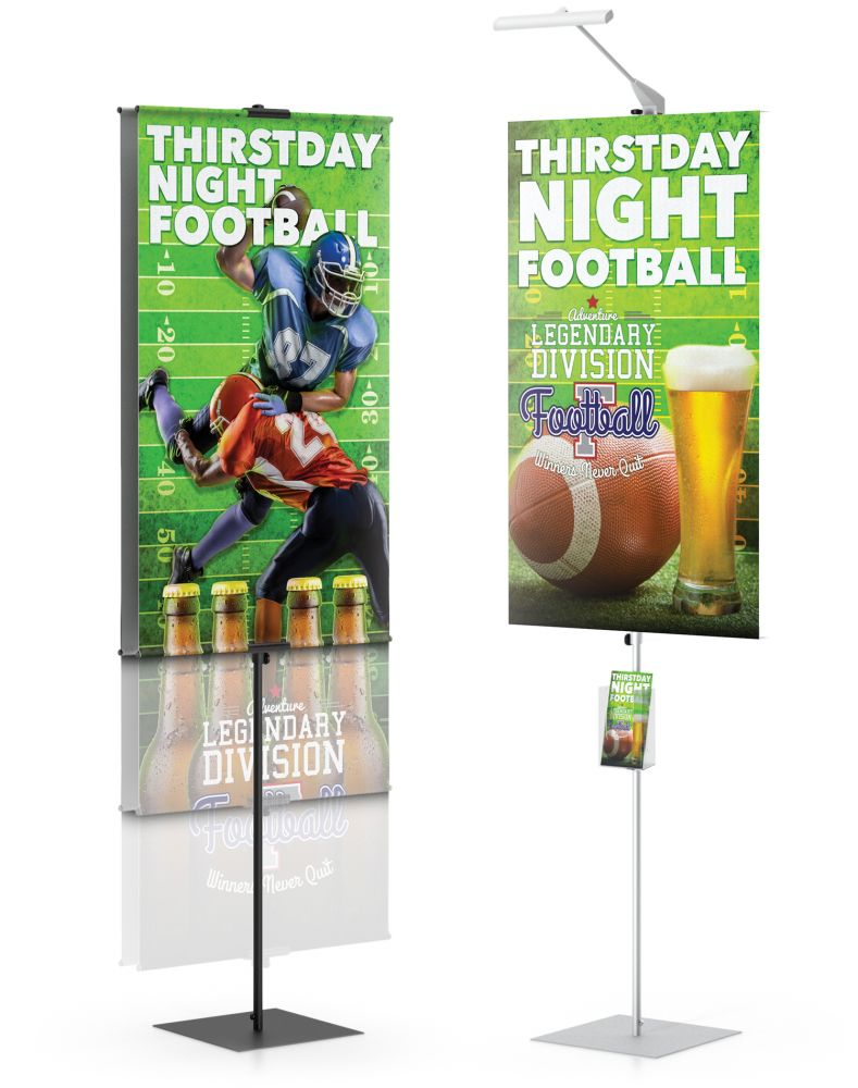 testrite visual promo banner stands