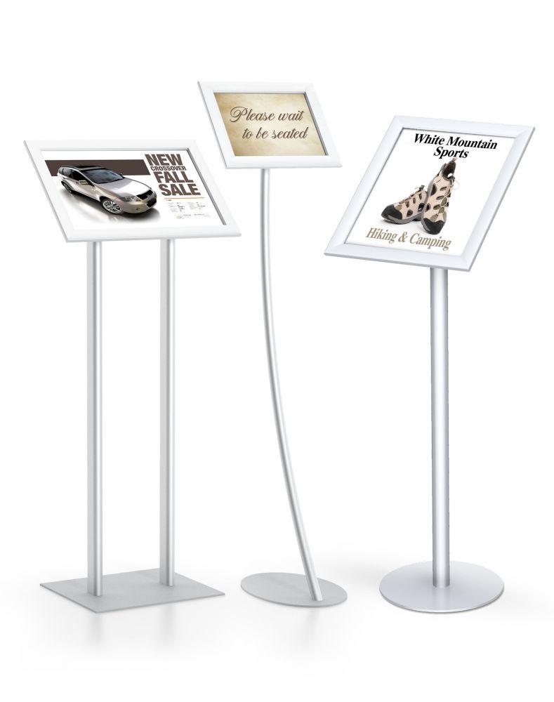 Testrite Visual Easyopen Snapframe Pedestal Stands