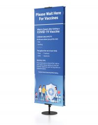 Classic Banner Stands™, Pole Pocket